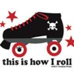 Mini This is How I Roll Roller Derby Sticker