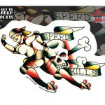 Speed Kills Roller Derby Sticker