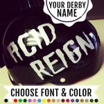 Roller derby name sticker