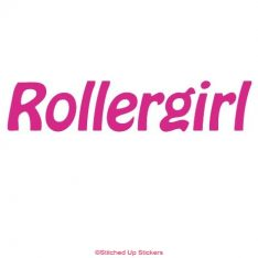 Rollergirl Decal Hot Pink