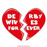 Derby Wives Forever Decal in Red