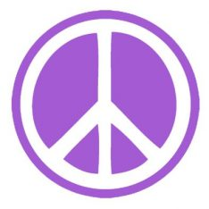 Peace Sign Sticker Purple
