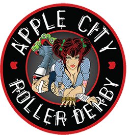 Roller derby sticker sponsored leagues