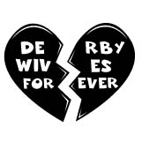 Roller Derby Wives Sticker Forever