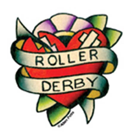 Mini Roller Derby Sticker