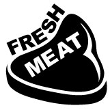 Fresh Meat Decal Sticker Roller Derby
