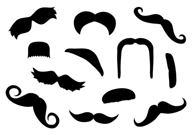 Mustache Decal Pack