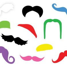 Rainbow Mustache Sticker Decal Derby