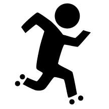 Sign Skater Sticker Roller Derby