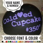 Roller derby name number decal
