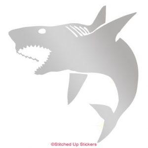Silver Matte Shark Sticker Vinyl
