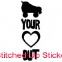 Skate Your Heart Out Water Bottle Sticker