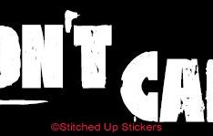 DON'T CARE Roller Derby Sticker