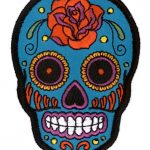 Sugar Skull Roller Derby Patch