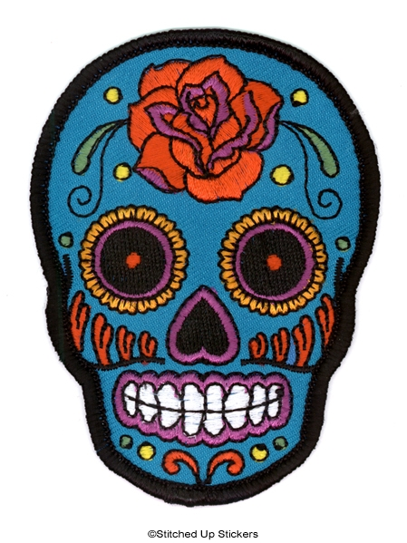 Sugar Skull Roller Derby Patch | Stitched Up Stickers