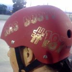Roller Derby Name and Number in Gold Digger Glitter Vinyl