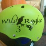 Custom Designed Derby Name Sticker, Black