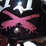 Custom Glitter Pink Machettes