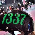 Derby Number Sticker, Lobster Mobster Font, Emerald Green