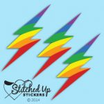 rainbow lightning bolt sticker 3pk