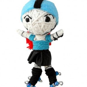 roller derby string doll blue pivot