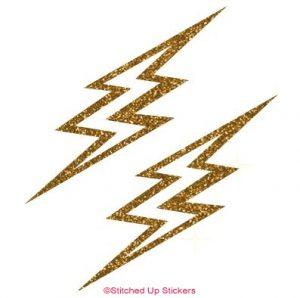 Gold Lightening Bolts