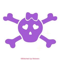 Girl Skull Decal Roller Derby