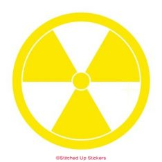 Radioactive Sticker Yellow