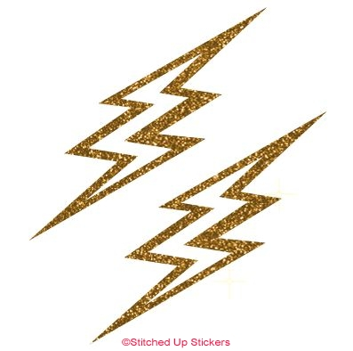 Gold Lightening Bolts