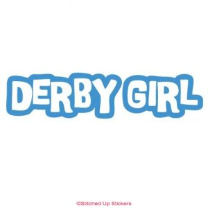 Derby girl sticker decal in blue