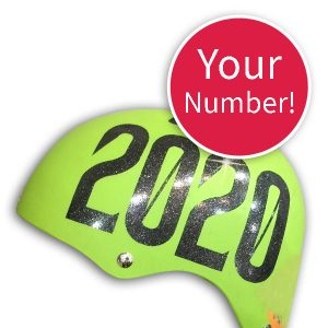 Your roller derby helmet number sticker