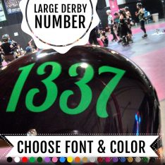 Roller Derby number sticker