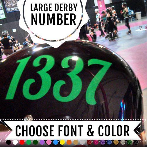 Roller Derby number sticker