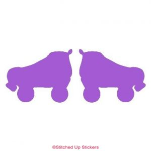 Pair of roller derby skates sticker
