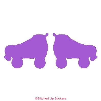 Pair of roller derby skates sticker