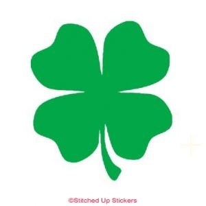 Green Four Leaf Clover Lucky