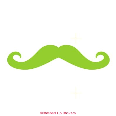 Mustache Sticker Vicious Green