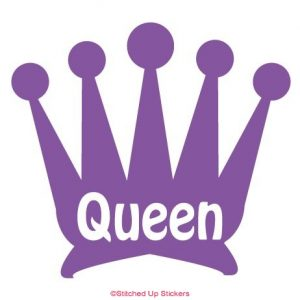 Queen / Crown Sticker Purple vinyl