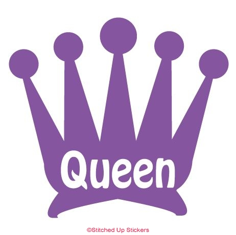 Queen / Crown Sticker Purple vinyl
