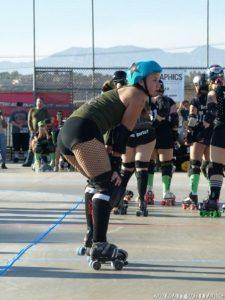 Shelbeast plays Roller Derby in Ventura, CA