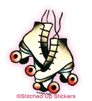Mini Roller Skates Sticker