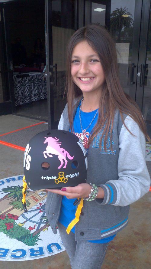 Unicorn Helmet Sticker Vinyl Pink