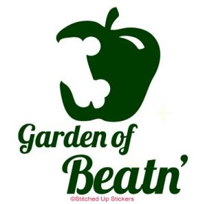 Garden of Beaten Apple Skate Sticker