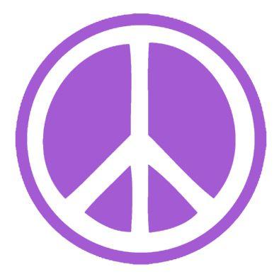 Peace Sign Sticker Purple
