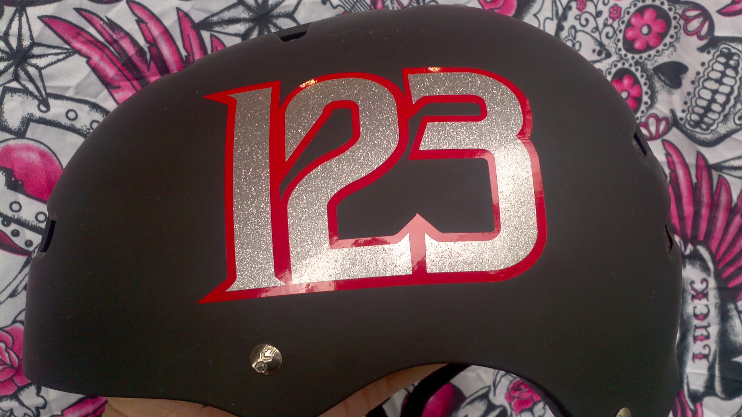Derby Helmet Sticker Number