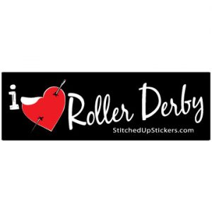 I love (heart) roller derby sticker