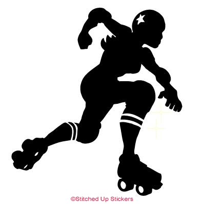 Jammer Derby Skater Sticker