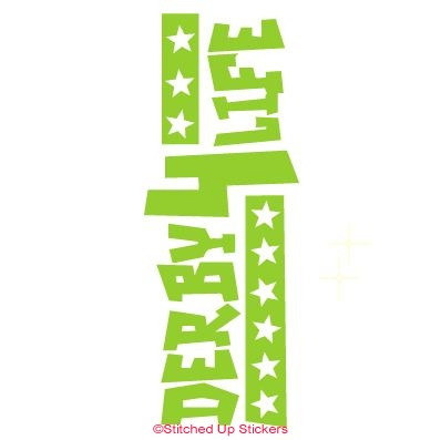 Derby For Life Water Bottle Sticker Green Vinyl