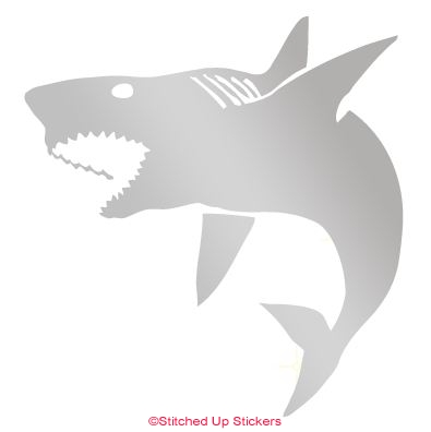 Silver Matte Shark Sticker Vinyl