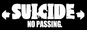 SUICIDE / NO PASSING Roller Derby Sticker